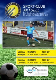Sport Club Aktuell - Ausgabe 41 - 09.04.2017