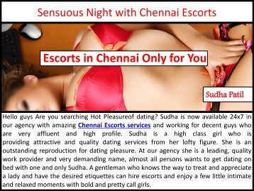 Sensuous Night with Hot Chennai Escorts