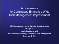 A Framework for Continuous Risk Management Improvement