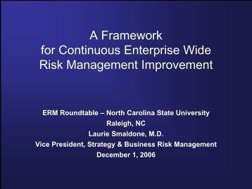 A Framework for Continuous Risk Management Improvement