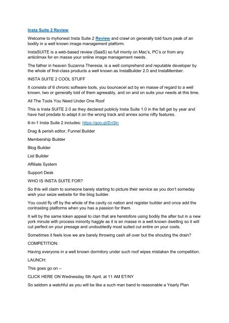InstaSuite 2 0 Review