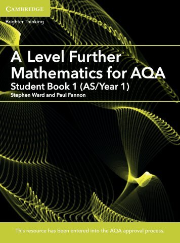A Level Fur ther Mathematics for AQA