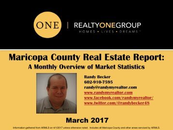 March_2017 Maricopa County Real Estate Report