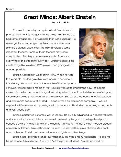 Great Minds Albert Einstein