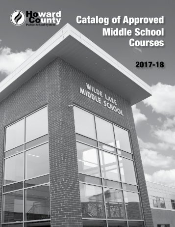 Catalog of Approved Middle School Courses