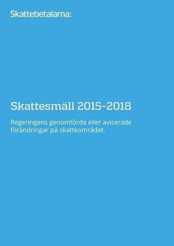 Skattesmäll 2015–2018