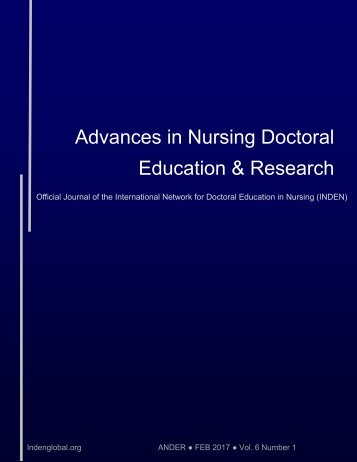 Advances in Nursing Doctoral Education & Research