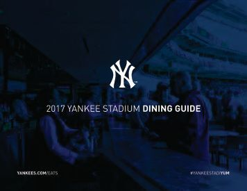 2017 YANKEE STADIUM DINING GUIDE