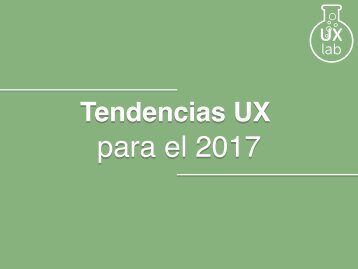 03.Tendencias UX 2017