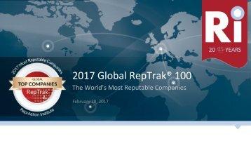 2017 Global RepTrak® 100