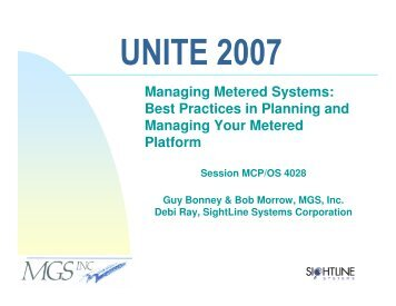Managing Metered Systems: Best Practices in Planning ... - MGS, Inc.