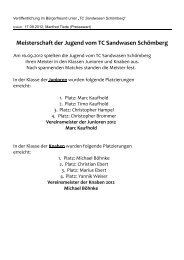Vereinsmeister der Junioren 2012 Marc Kaufhold - TC Sandwasen ...