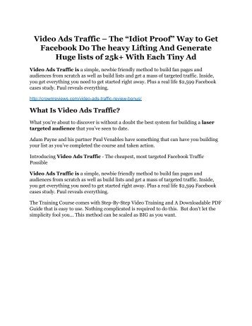 Video Ads Traffic review - I was shocked!