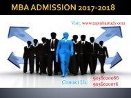 MBA ADMISSION 2017-2018