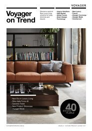 Voyager on Trend | Issue 1 | Autumn 2017 Product Launch