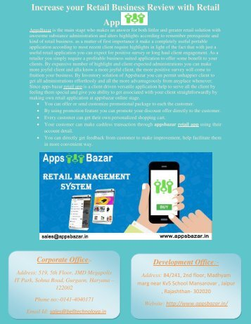 Increase your Retail Business Review with Retail App