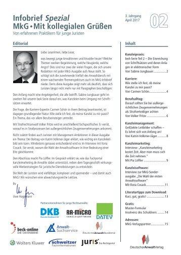 Infobrief MkG Ausgabe 02/2017