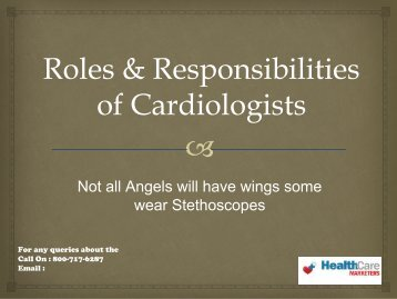 Roles and responsibility of cardiologist