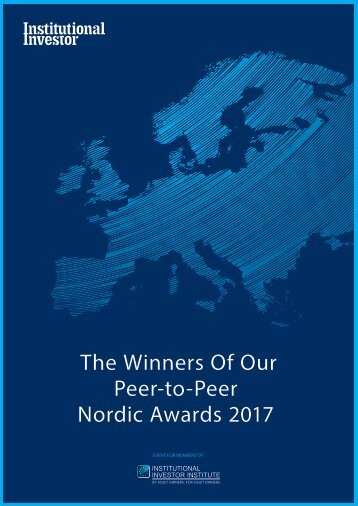 Peer-to-Peer Nordic Awards 2017
