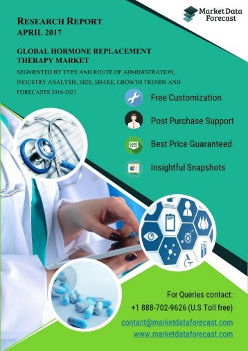 Global Hormone Replacement Therapy Market: Overview, Revenue and 2021 Forecasts report