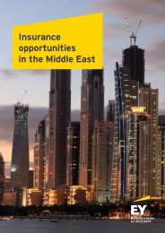 Insurance opportunities in the Middle East