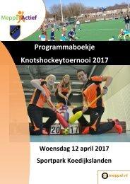 Programmaboekje Knotshockeytoernooi 2017