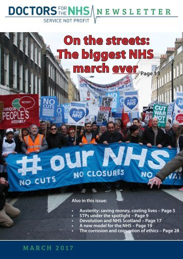 On the streets The biggest NHS march ever
