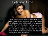 Hyderabad Escorts Is Very Superb For Erotic Services