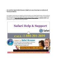 Apple Safari Browser Support Number 1-888-201-2039