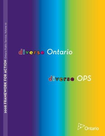 2008 Framework for Action - Diverse Ontario - Ontario.ca