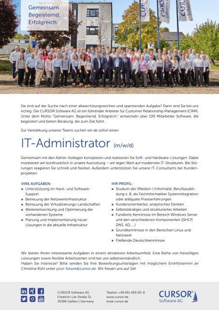 IT Administrator (m/w/d) Stellenanzeige