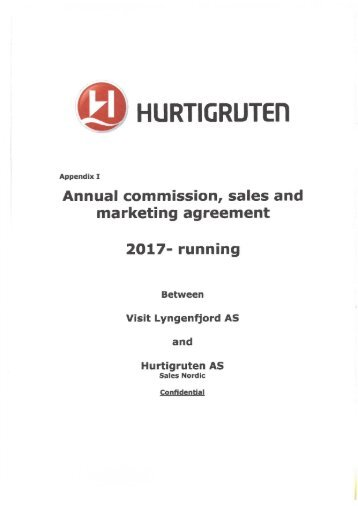 Contract Hurtigruten