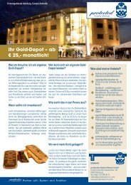 Ihr Gold-Depot – ab € 25,- monatlich! - Protected-group.com