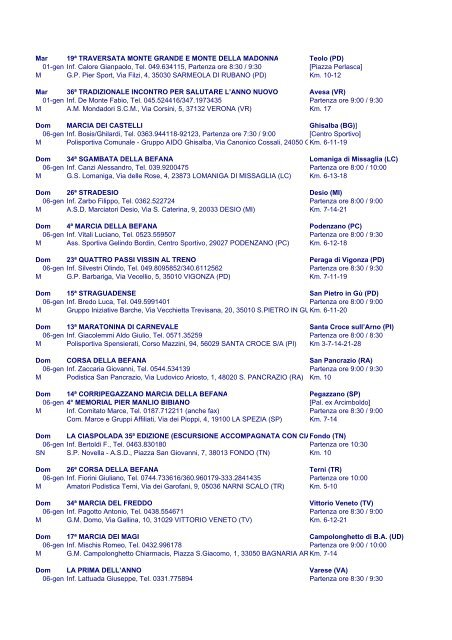 Giuseppe Rosati Calendario.Sab 9ª Camminata Parco F