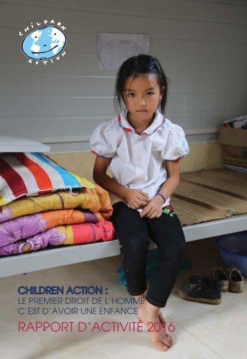 CHILDRENA ACTION RAPPORT D'ACTIVITE 2016