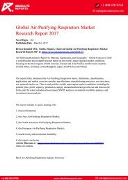 Air-Purifying-Respirators-Market-Research-Report-2017