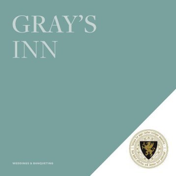 Gray's Inn Wedding Brochure