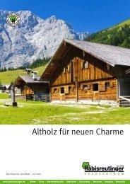 Altholz für neuen Charme