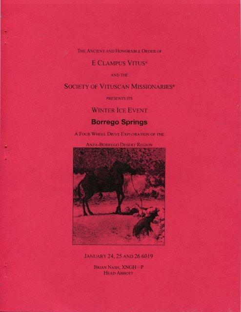 6019 Winter Vituscan Borrego Springs History
