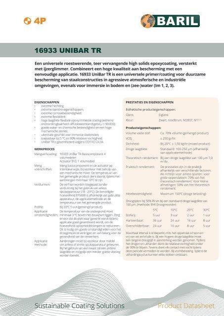 16933_UniBar_TR_4P_datasheet_NL