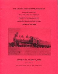 6019 Fall Clampout Shoshone and the Tonopah and Tidewater Railroad