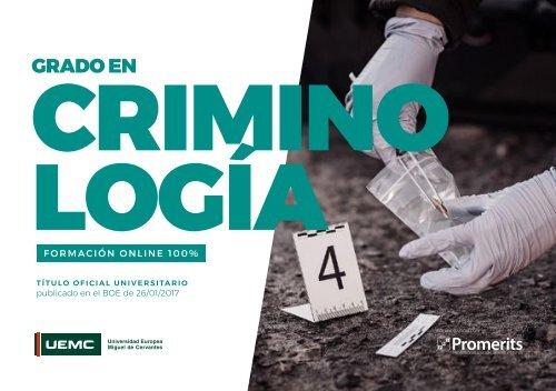 Catalogo Criminologia