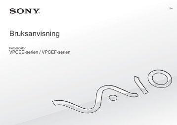 Sony VPCEE4J1E - VPCEE4J1E Mode d'emploi Suédois