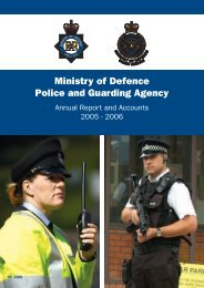 Ministry of Defence Police and Guarding Agency
