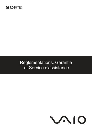 Sony VGN-NW26JG - VGN-NW26JG Documenti garanzia Francese