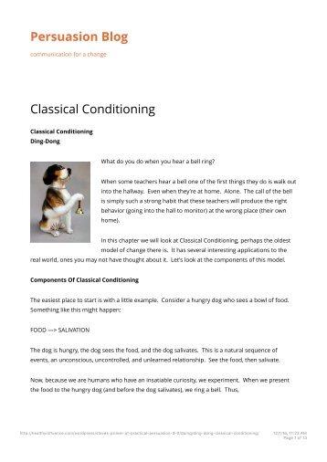 Classical Conditioning _ Persuasion Blog