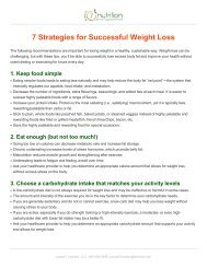 Handout 7 Strategies for Successful Weight Loss