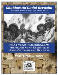 Rabbi Efrem Goldberg w Next Year in Jerusalem! w Boca Raton Synagogue Page #1