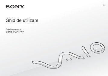 Sony VGN-FW41E - VGN-FW41E Mode d'emploi Roumain