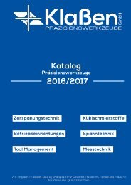 Klaßen Präzisionswerkzeuge Katalog Info Video 7 Seiten